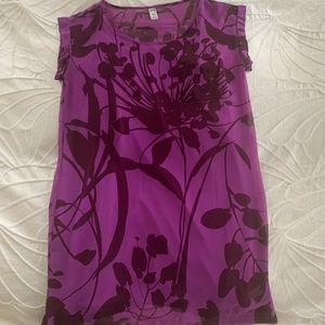Old Navy Purple Print Shift Dress